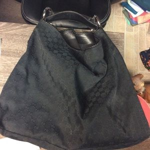 Authentic black Gucci hobo